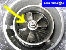 turbo rotor damaged