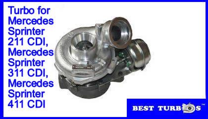 turbos garrett for mercedes sprinter 211 cdi,311 cdi,411 cdi