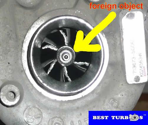 turbo foreign object