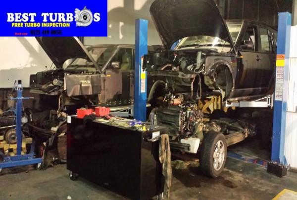 range rover 3.6 tdv8 turbo replacement fitting repair