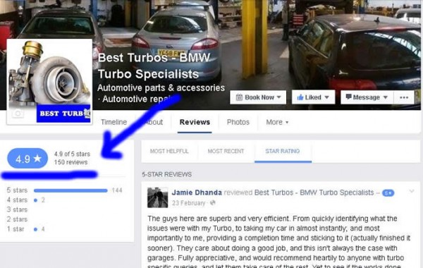 best turbos facebook reviews