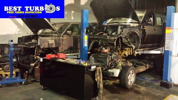 Best Turbos™ will lift up Range Rover car body shell